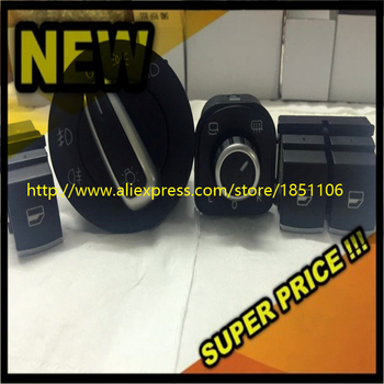Set Krom Far Windows Ayna Anahtarı Düğmesi 5K3959857 5ND941431A 5ND959565A 5ND959855 VW EOS Golf 5 6 GTI Passat B6 Için